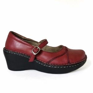 Hush Puppies Steps Mary Jane Wedges 7 Red